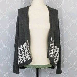 Wooden Ships Gray Open Knit Cardigan
